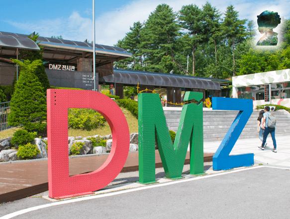 *DMZ - 4km breite Demilitarisierte Zone zwischen Nord- und Süd-Korea, die als Grenze dient.