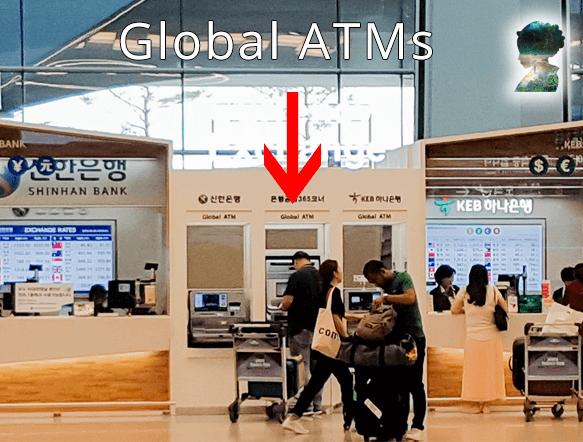 """*Gobal ATM - """"Automated teller machine"""", zu deutsch """"Globaler Geldautomat"""""""