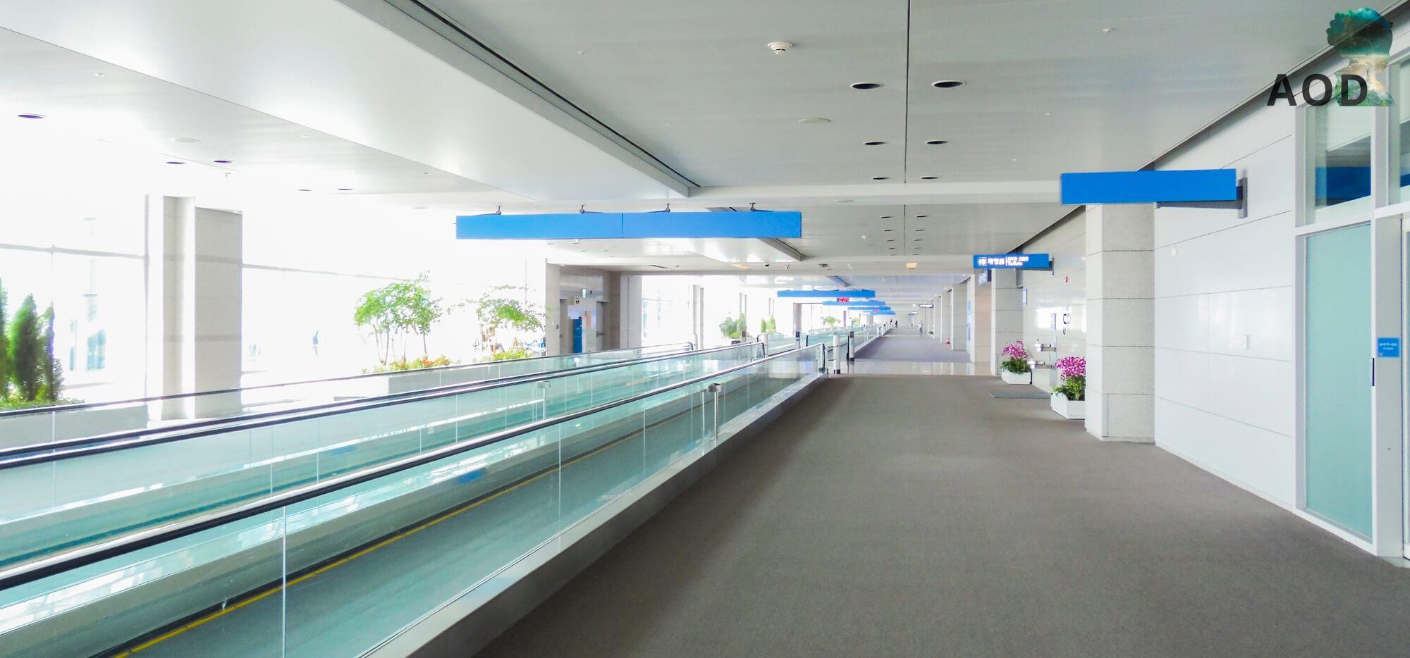 Incheon Terminal 2 - Menschenleer, da fühlt man sich schon etwas verloren