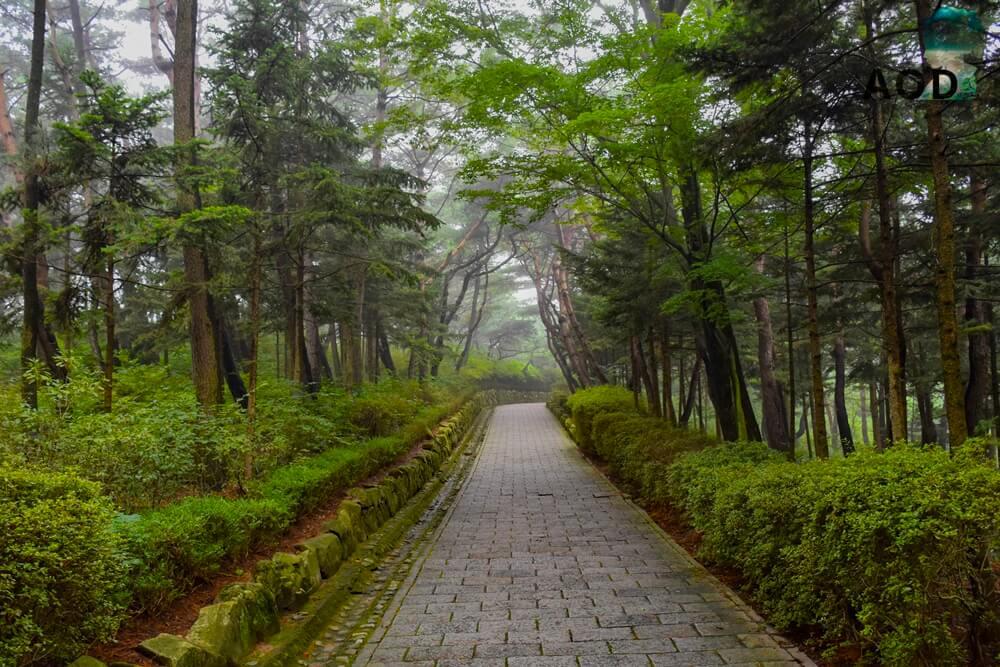 Weg zum Grab von Kim Yu Sin