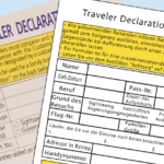 Travelers Declaration Form – Zoll in Korea