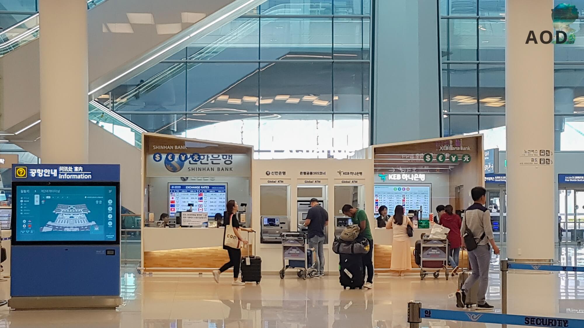 Incheon - gobale Geldautomaten und Bankschalter