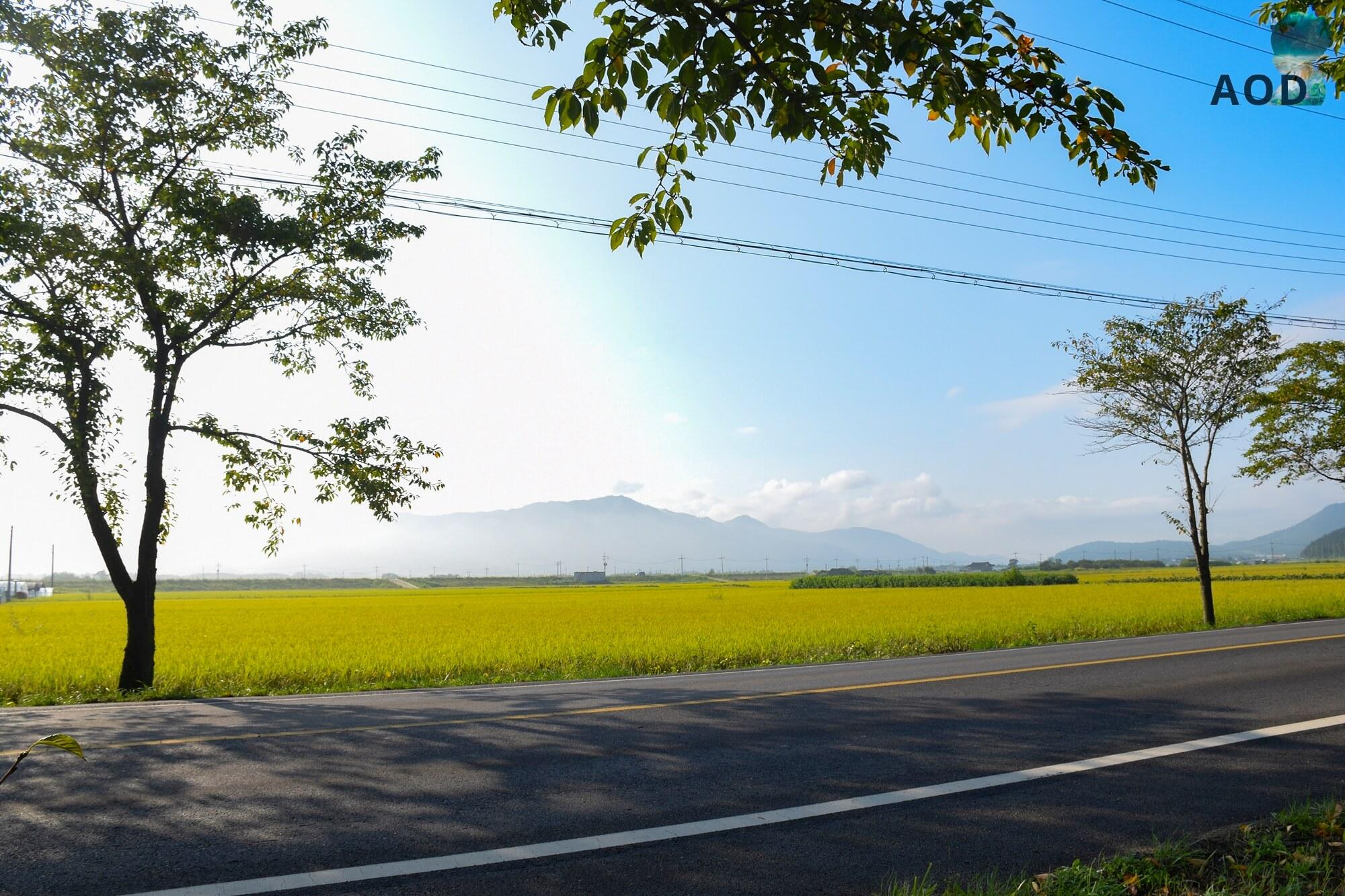 Straße Richtung Königsgrab von Taejong Muyeol - Fußweg hört plötzlich auf