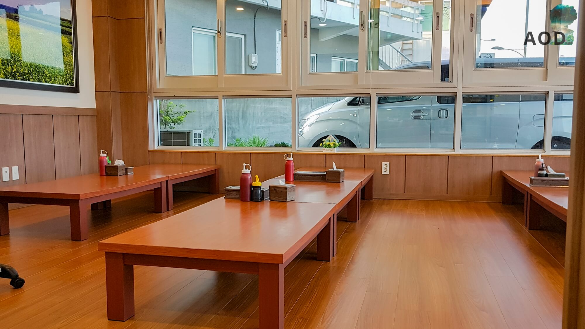 Koreanische Ess- und Tischsitten - niedrige Tische