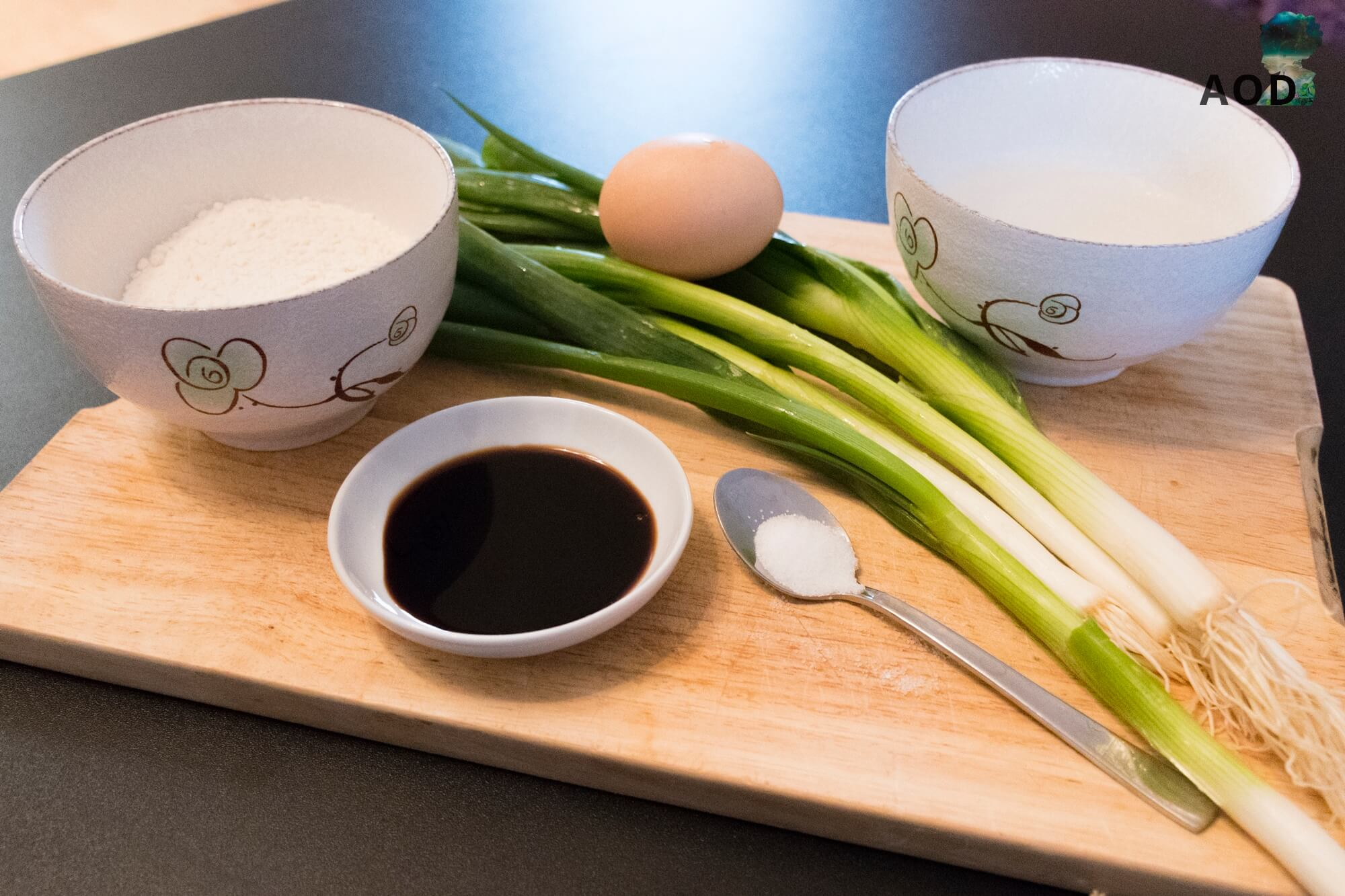 Zutaten für koreanische Pfannkuchen