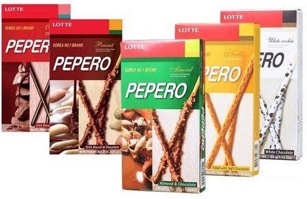 Pepero - verschiedene Geschmacksrichtungen