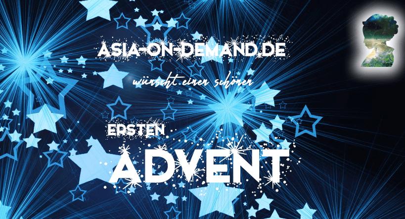 Aisia-on-Demand wünscht einen schönen ersten Advent.