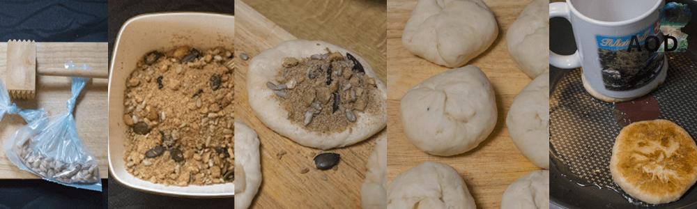 Hotteok  Zubereitung  - Teigbällchen