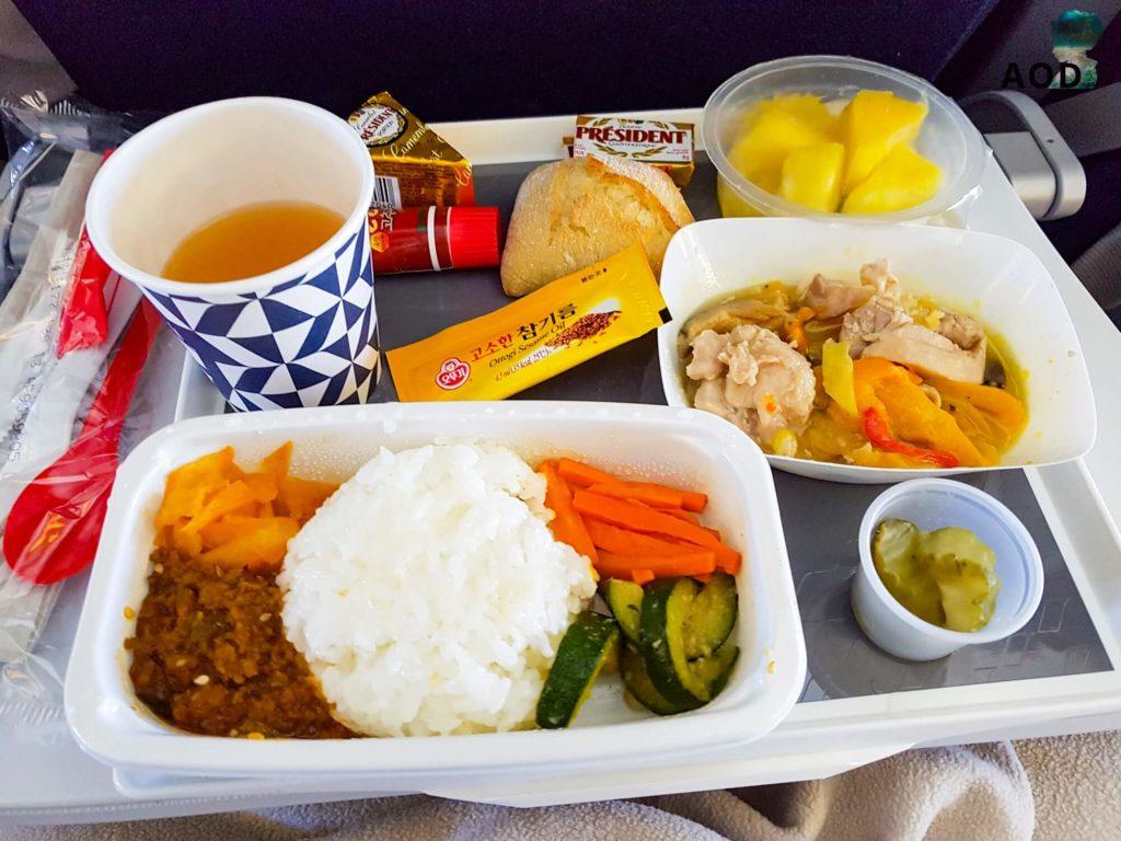 Koranische Mahlzeit im Flugzeug