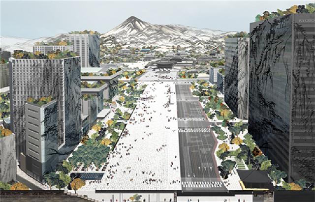 Gewinnerdesign zum Gwanghwamun-Platz für 2021
