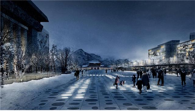 Gwanghwamun-Platz Neues Design