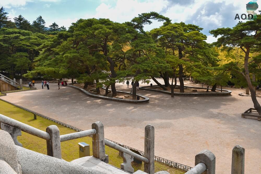 Bulguksa Gelände direkt vor dem Tempelgebäuden