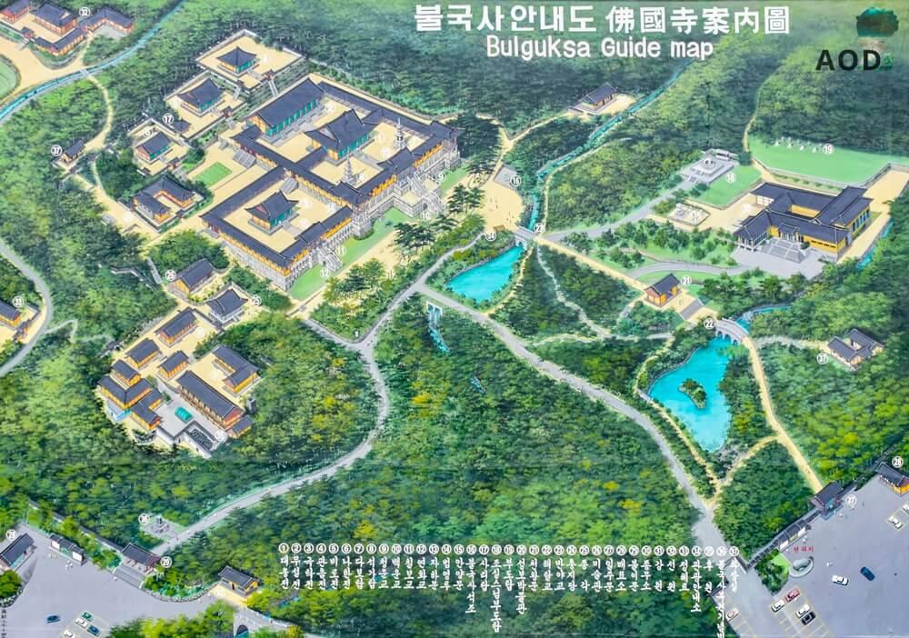 Karte des Tempelgeländes