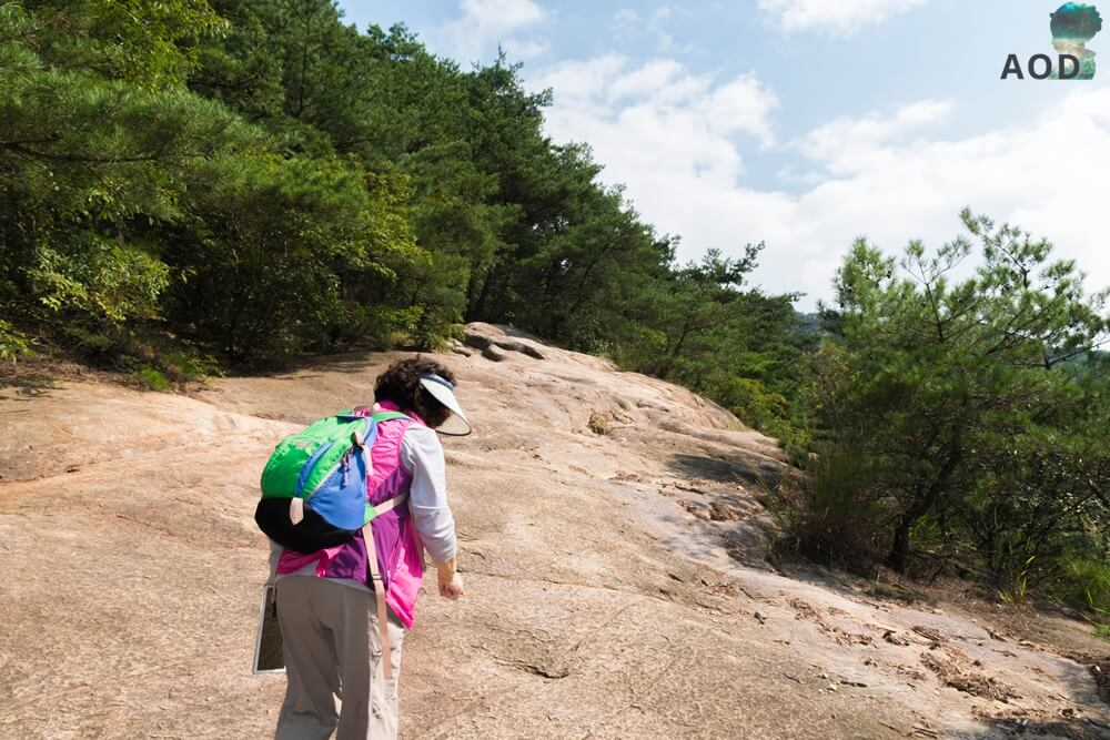 Meine Begleitung und Führung auf dem nicht immer erkennbaren schereren Trail. Und ja, das ist der Weg!