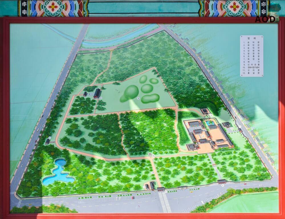 Karte zum Oreung Park
